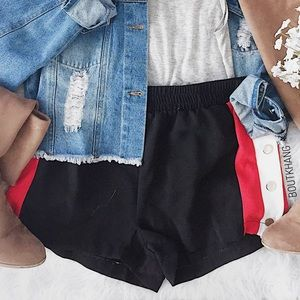 Pants - Side Stripe Shorts
